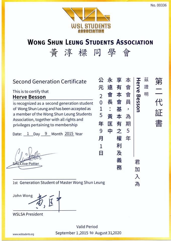 certificat WSLVT